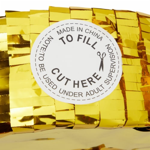 Gold Foil Pinata for 30th Birthday Party (16.5 x 13 In) Perspective: bottom
