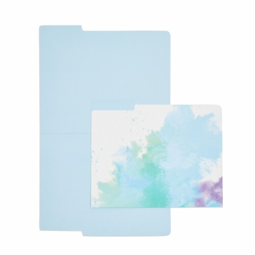 Rainbow Decorative File Folders, 1/3 Cut Tab, Letter Size, Watercolor (12 Pack) Perspective: bottom