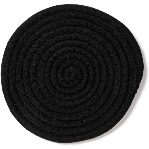 Cotton Trivet Potholder Set, Round Coasters in 4 Colors (7 Inches, 4 Pack) Perspective: bottom