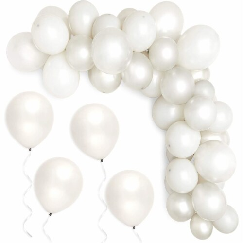 Latex Balloons with Balloon Weights, Grey Party Decorations (64 Pieces) Perspective: bottom
