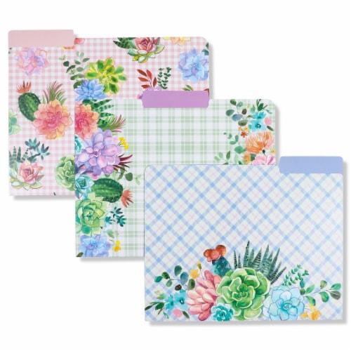 Decorative File Folders, Cactus Succulents, 1/3 Cut Tab, Letter Size (12 Pack) Perspective: bottom
