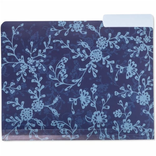 Plastic File Cabinet Folders 1/3 Cut Tab, Floral Designs (Letter Size, 6 Pack) Perspective: bottom