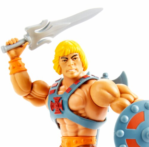 Mattel Masters of the Universe Origins He-Man Action Figure Perspective: bottom