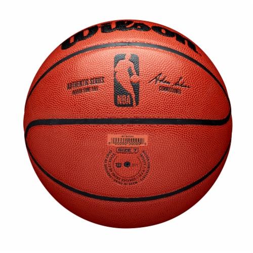 Wilson Sporting Goods NBA Authentic Indoor Basketball - Orange/Black Perspective: bottom