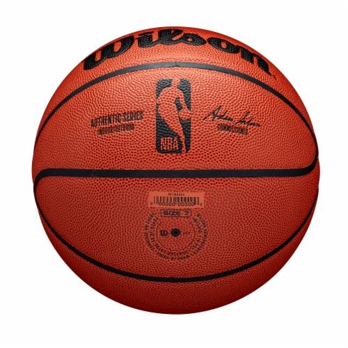 Wilson Sporting Goods NBA Authentic Indoor/Outdoor Intermediate Size Basketball - Orange/Black Perspective: bottom
