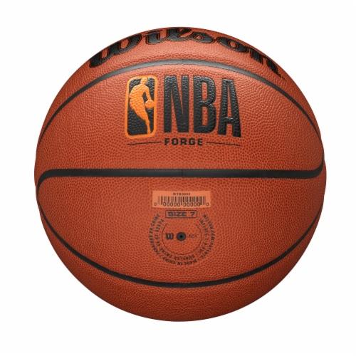 Wilson Sporting Goods NBA Forge Intermediate Size Basketball - Orange/Black Perspective: bottom