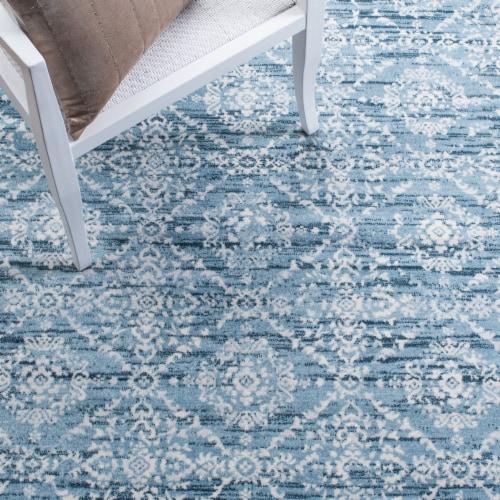 Safavieh Martha Stewart Isabella Accent Rug - Denim Blue/Ivory Perspective: bottom