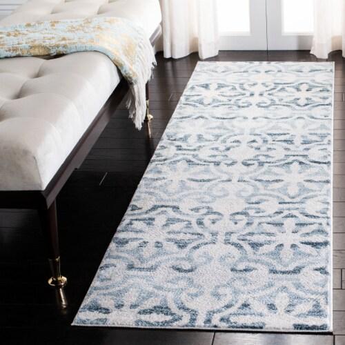 Safavieh Martha Stewart Isabella Floor Runner Rug - Navy/Ivory Perspective: bottom