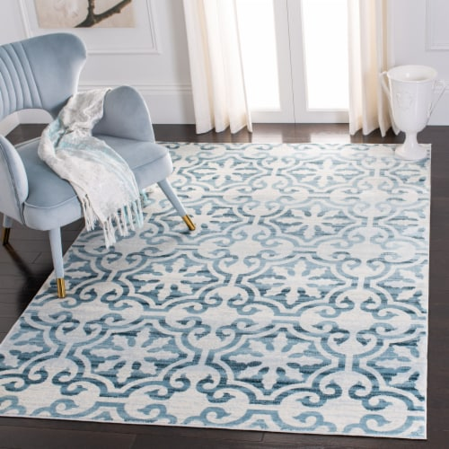 Martha Stewart Collection Isabella Area Rug - Navy/Ivory Perspective: bottom