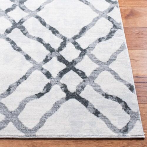 Martha Stewart Isabella Area Rug - Gray / Ivory Perspective: bottom