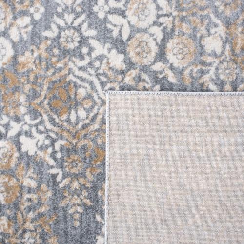 Martha Stewart Isabella Round Rug - Silver/Ivory Perspective: bottom
