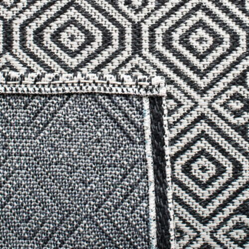 Martha Stewart Cotton Accent Rug - Charcoal/Gray Perspective: bottom
