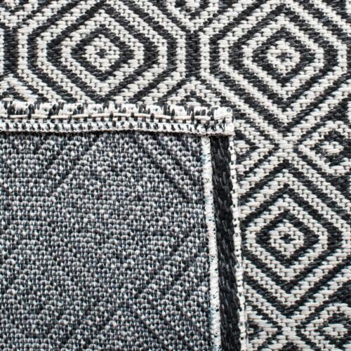 Martha Stewart Cotton Area Rug - Charcoal/Gray Perspective: bottom