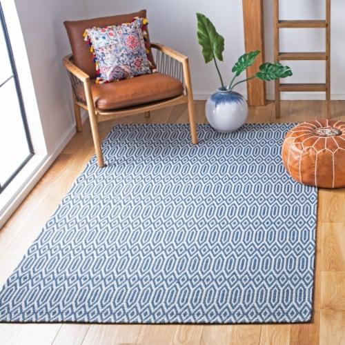 Martha Stewart Cotton Area Rug - Blue/Gray Perspective: bottom