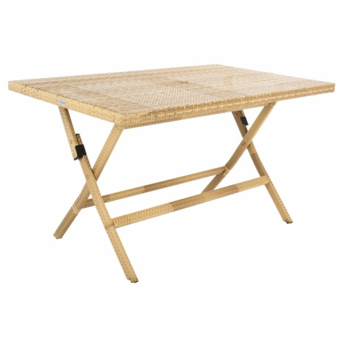 Akita Folding Table Natural / White Perspective: bottom