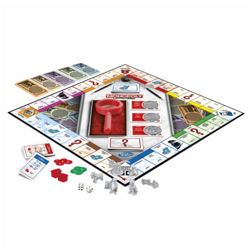 Hasbro Gaming Monopoly Crooked Cash Board Game Perspective: bottom
