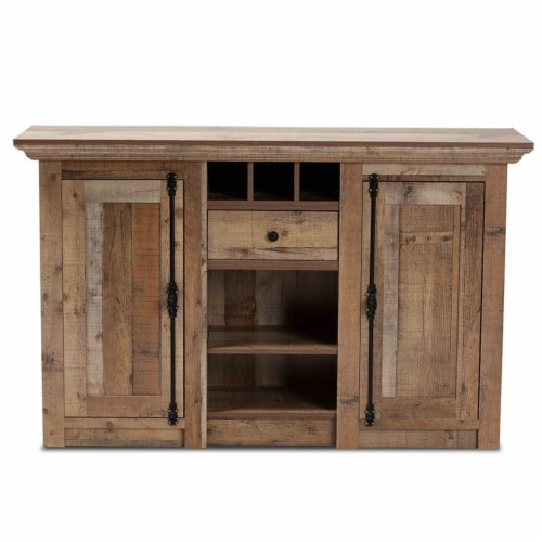 Bowery Hill Finished Wood 2-Door Dining Room Sideboard Buffet Perspective: bottom