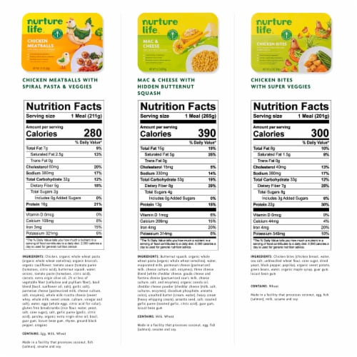 Nurture Life Healthy Toddler & Kid Food Picky Eater 5-Meal Variety Pack, Organic Focus Perspective: bottom