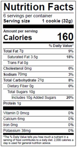 Dolce Biscotti Vegan, Gluten Free, Allergen Free Chocolate Chip Cookies - 6.77 oz each unit Perspective: bottom