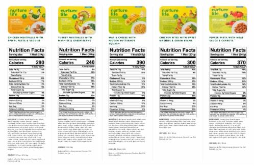 Nurture Life Toddler & Kid Food Favorites 8-Meal Variety Pack, Fresh Baby Food Perspective: bottom