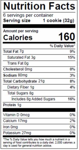 Dolce Biscotti Vegan, Gluten Free, Allergen Free Snickerdoodle Cookies - 6.77 oz. each unit Perspective: bottom