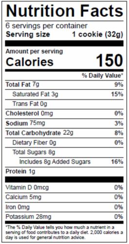 Dolce Biscotti Vegan, Gluten Free, Allergen Free, Lemon Cookies - 6.77 oz. each unit Perspective: bottom