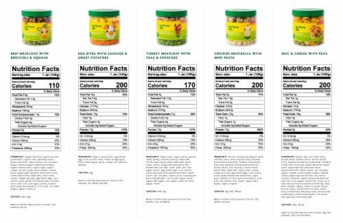 Nurture Life Baby & Toddler Finger Food Favorites 8-Meal Variety Pack, Fresh Baby Food Perspective: bottom