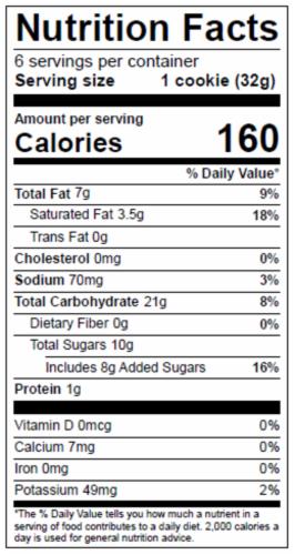 Dolce Biscotti Vegan, Gluten Free, Allergen Free Double Chocolate Cookies - 6.77 oz each unit Perspective: bottom
