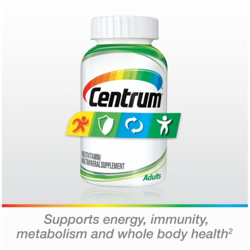 Centrum Adults Multivitamin & Multimineral Supplement Tablets Perspective: bottom