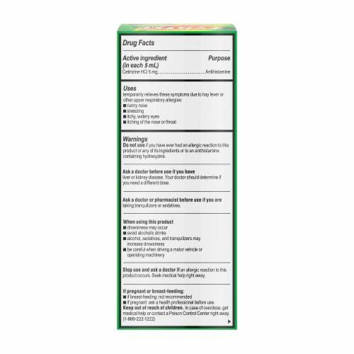 Zyrtec Children's Allergy Dye-Free Sugar-Free Grape Syrup Perspective: bottom