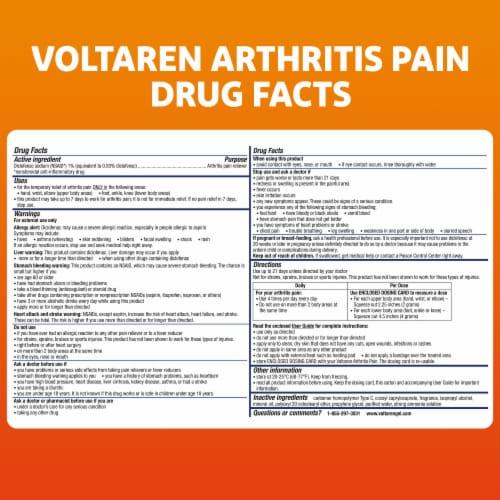 Voltaren Arthritis Pain Reliever Topical Gel Perspective: bottom