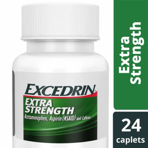 Excedrin Extra Strength Pain Reliever Caplets Perspective: bottom