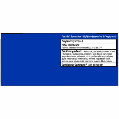 Theraflu ExpressMax Severe Cold & Cough Daytime & Nightime Combo Coated Caplets Perspective: bottom
