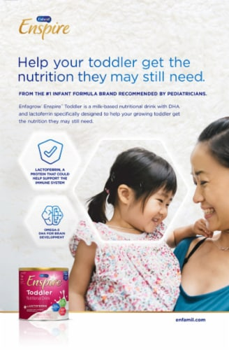 Enfagrow Enspire Natural Milk Flavor Toddler Nutritional Drink Perspective: bottom