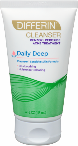 Differin Daily Deep Sensitive Skin Formula Cleanser Perspective: bottom
