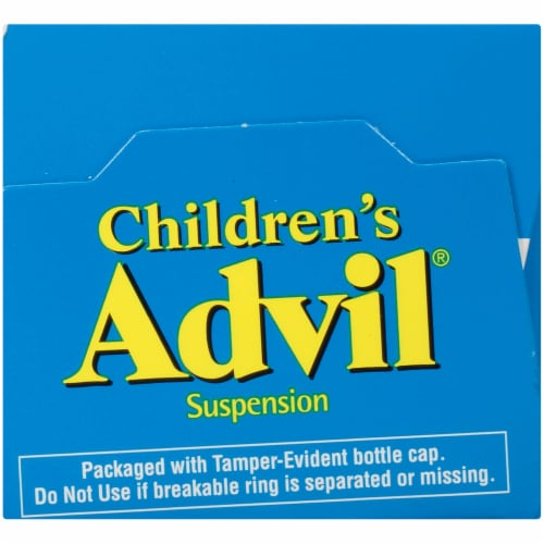 Advil Children's Berry-Flavored Pain Reliever Fever Reducer Liquid Suspension 100mg Perspective: bottom