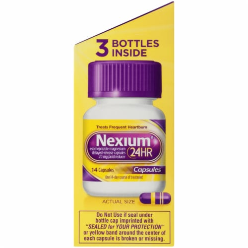 Nexium 24-Hour Delayed Release Heartburn Relief Capsules 20mg Perspective: bottom