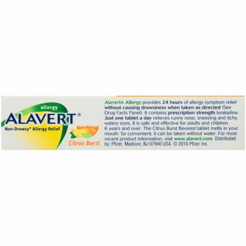 Alavert® Citrus Burst Non-Drowsy Allergy Relief Tablets Perspective: bottom