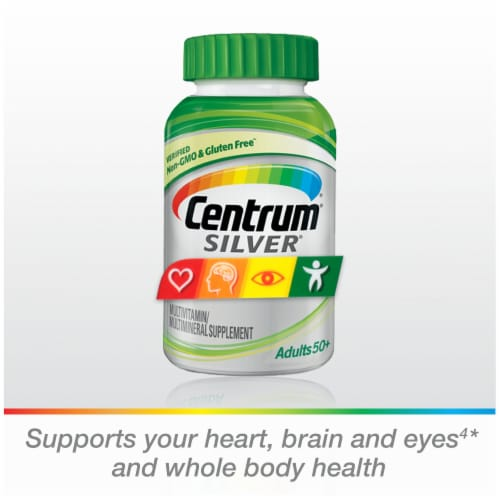 Centrum® Silver Adults 50+ Multivitamin Supplement Tablets Perspective: bottom