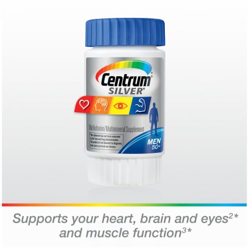 Centrum Silver Men 50+ Multivitamin Supplement Tablets Perspective: bottom