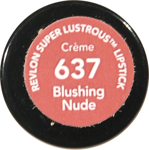 Revlon Super Lustrous 637 Blushing Nude Creme Lipstick Perspective: bottom