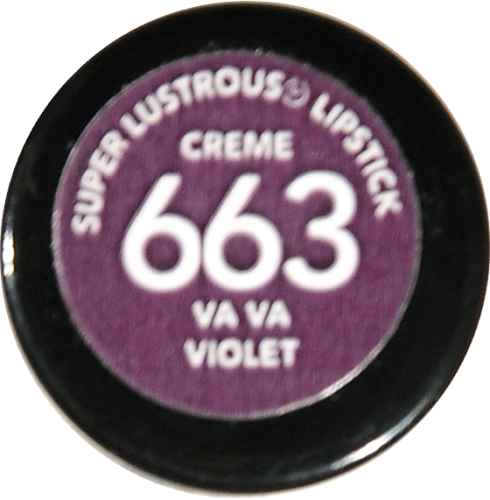 Revlon Super Lustrous Va Va Violet Creme Lipstick Perspective: bottom