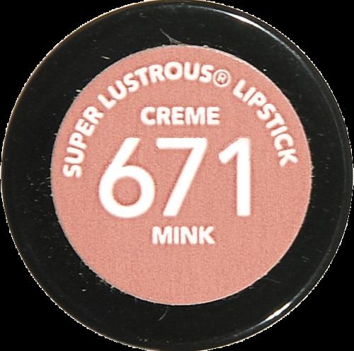 Revlon Super Lustrous 671 Mink Creme Lipstick Perspective: bottom
