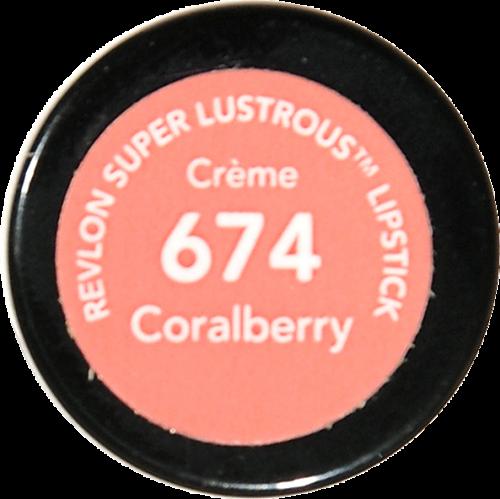 Revlon Super Lustrous Coralberry Lipstick Perspective: bottom