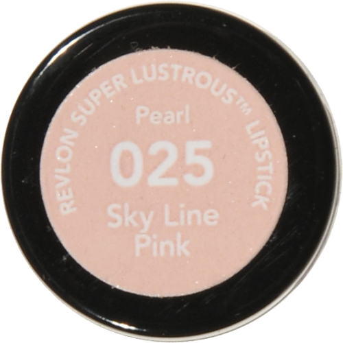 Revlon Super Lustrous 025 Sky Line Pink Pearl Lipstick Perspective: bottom