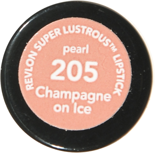 Revlon Super Lustrous 205 Champagne on Ice Pearl Lipstick Perspective: bottom