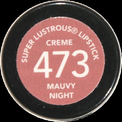 Revlon Super Lustrous Mauvy Night Creme Lipstick Perspective: bottom