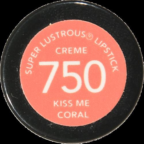 Revlon Super Lustrous Kiss Me Coral 750 Creme Lipstick Perspective: bottom