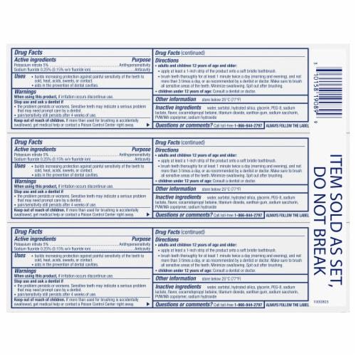 Sensodyne Pronamel Extra Fresh Intensive Enamel Repair Toothpaste Perspective: bottom