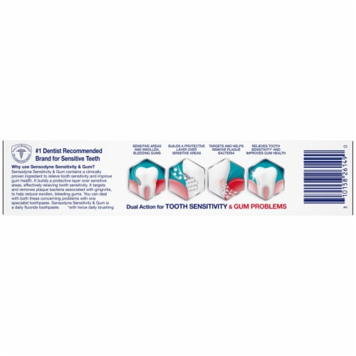 Sensodyne Sensitivity and Gum Clean and Fresh Toothpaste Perspective: bottom